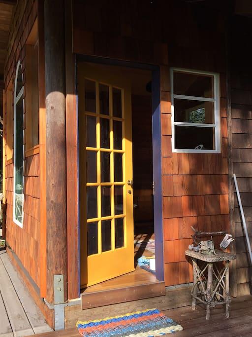 Antique door entry