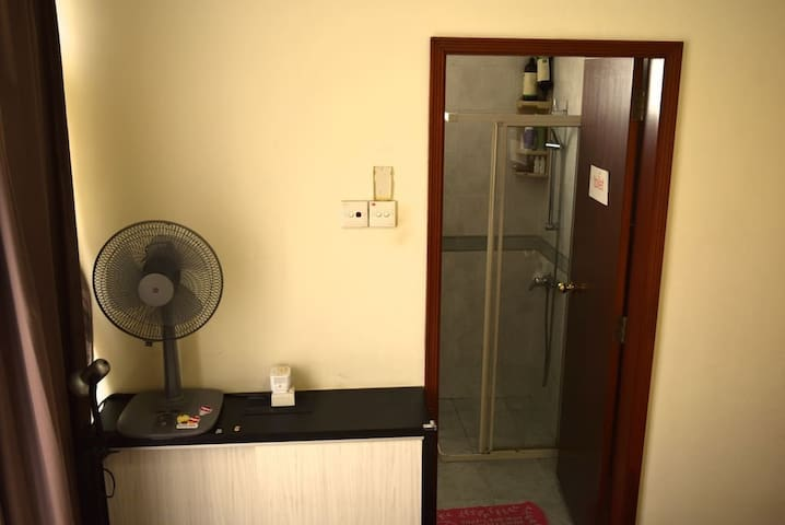 Entrance to private bathroom