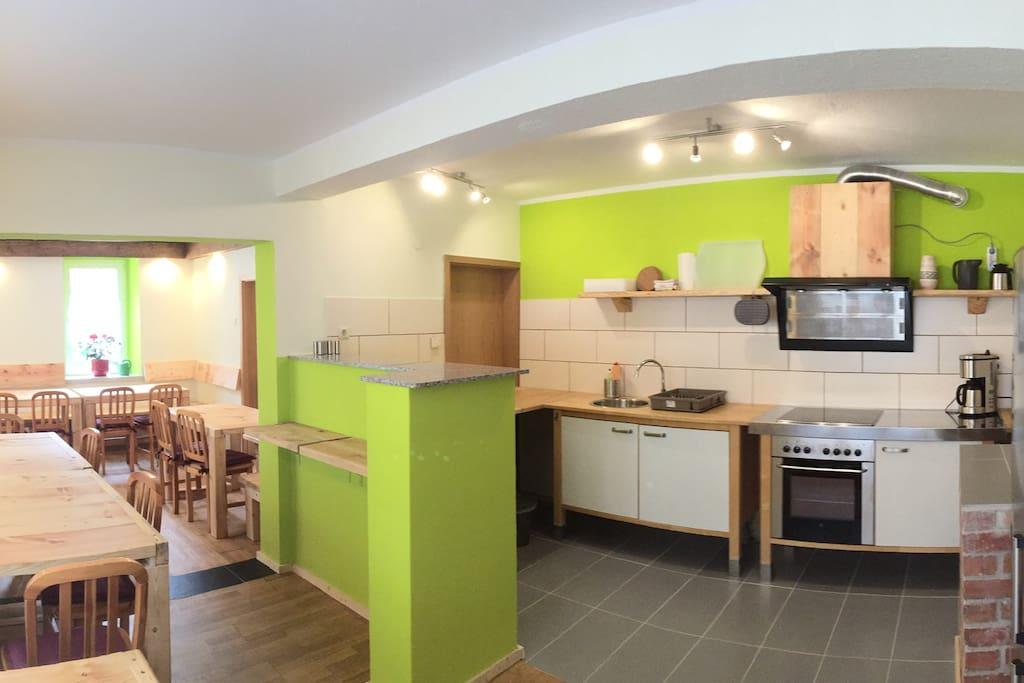Unser Gemeinschaftsraum mit Gästeküche