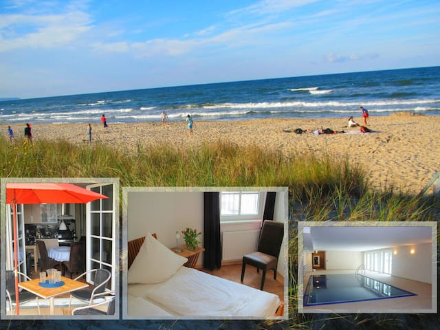 Exkl. Fewo am Strand, Pool & Sauna - Baabe - Appartement