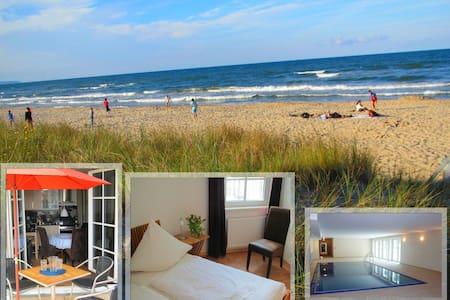 Exkl. Fewo am Strand, Pool & Sauna - Apartment