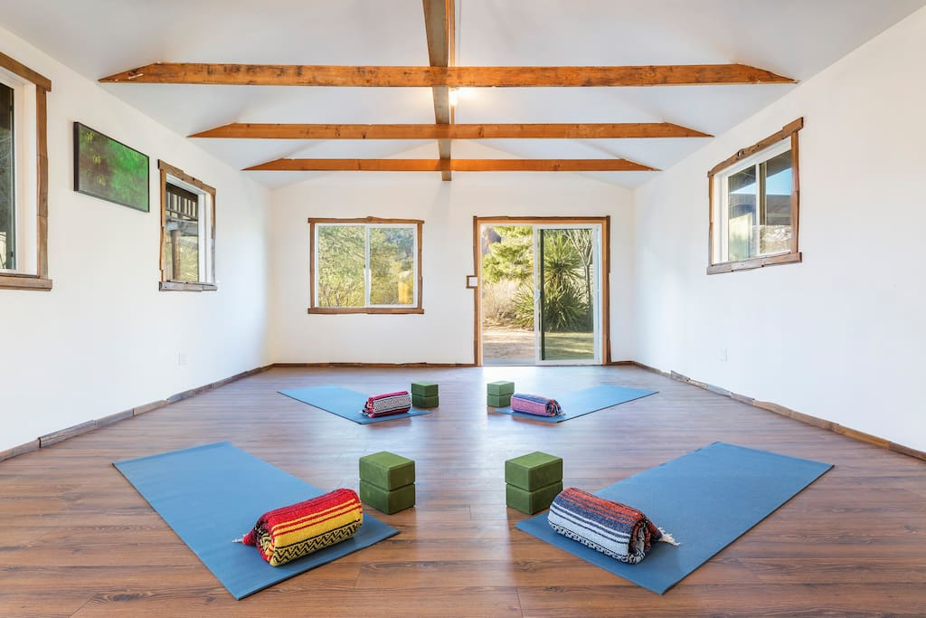 Detached Yoga Studio (yoga accessories not included)