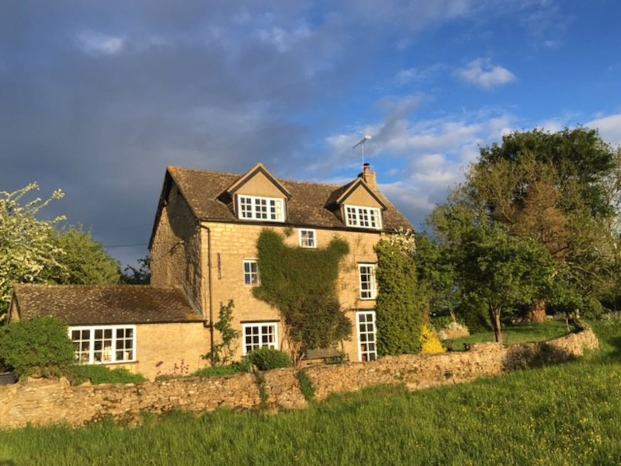 Our cottage seen from the field