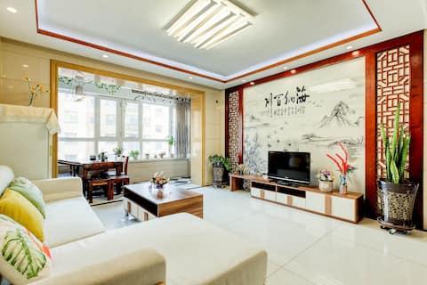 『海韵茗邸』近火车站/美食街/茶艺三居室