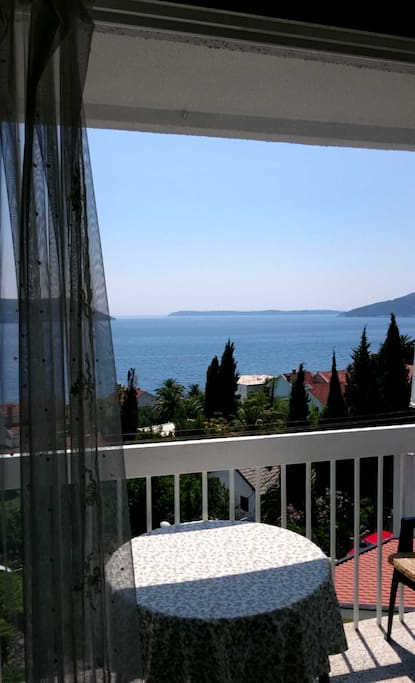 View from balcony to the Adriatic sea