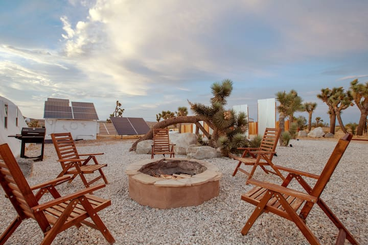 Hang out around the cozy fire pit and tell ghost stories under the desert sky!