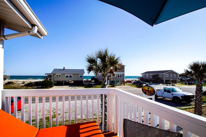 Sit on your private deck relaxing to the sounds, the view and the sweet, salty air!
