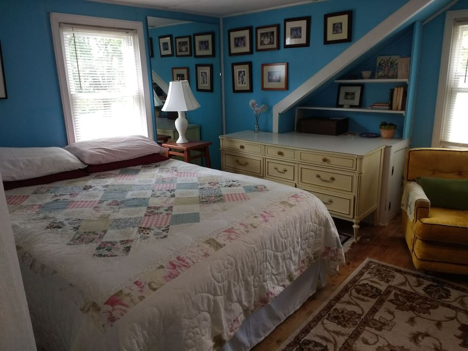 Upstairs Bedroom with a Queen Bed