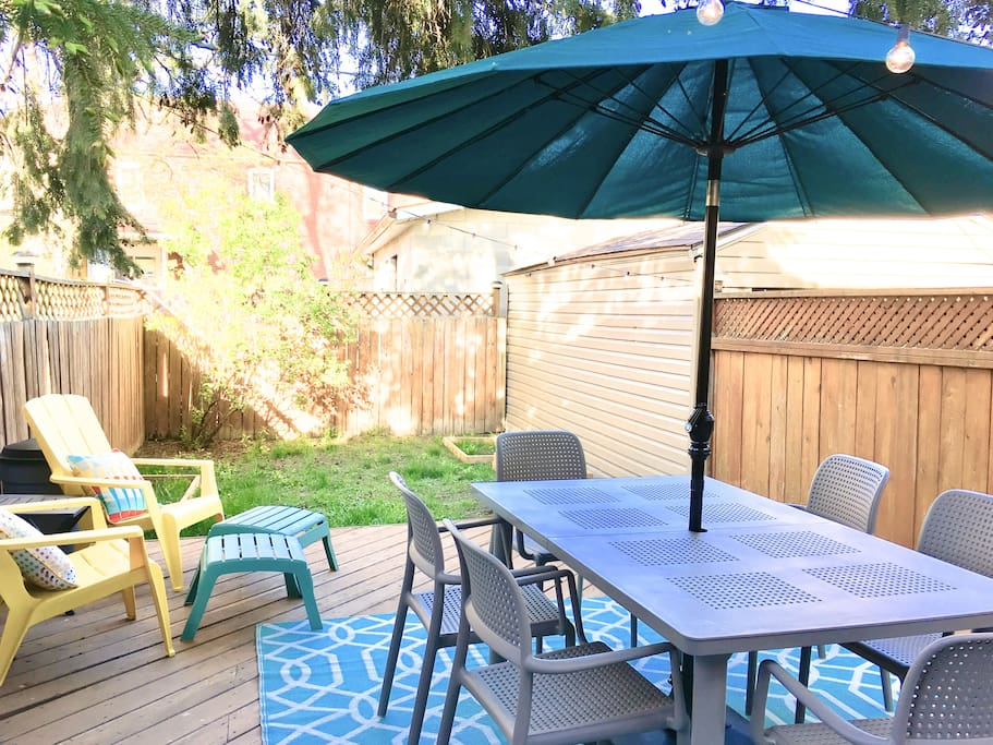 Backyard/patio!