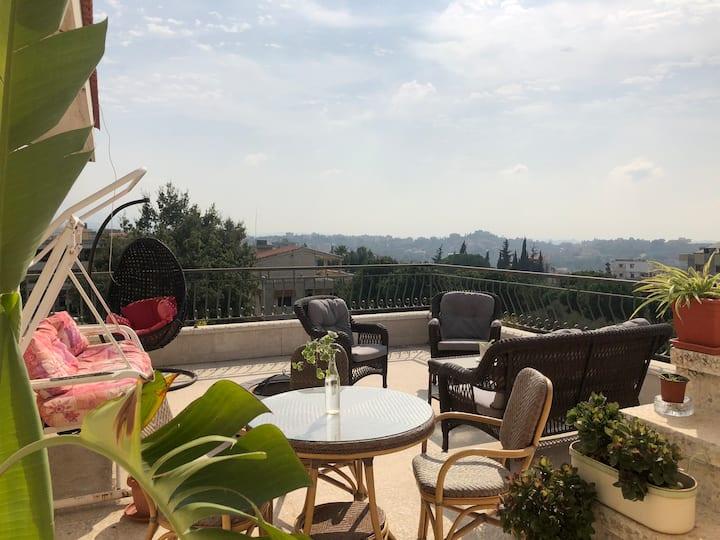 Beit Mazboud | 3 Bed Duplex Village Apartment