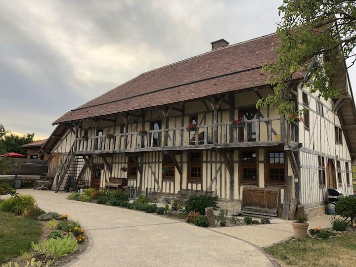 Chambre situé dans une maison champenoise du 18ème