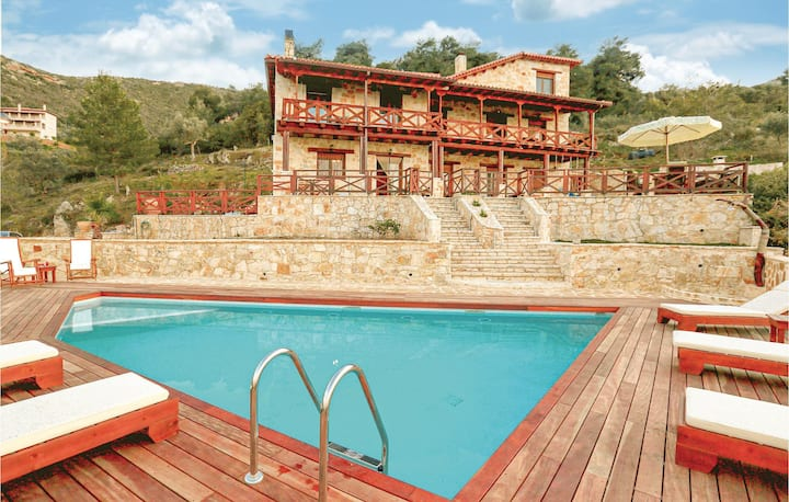 Awesome home in Ano Platanos Akrata with WiFi and 4 Bedrooms