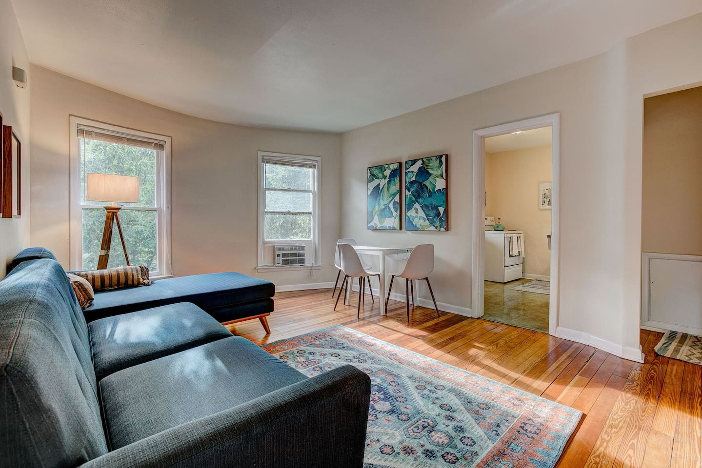 Second story unit in our 1905 built 6-plex. Steps to Downtown and CSU. One bedroom, living room, full kitchen and full bath. Queen sized bed, sectional couch, WiFi, TV, fully outfitted kitchen, Right in the heart of Downtown!