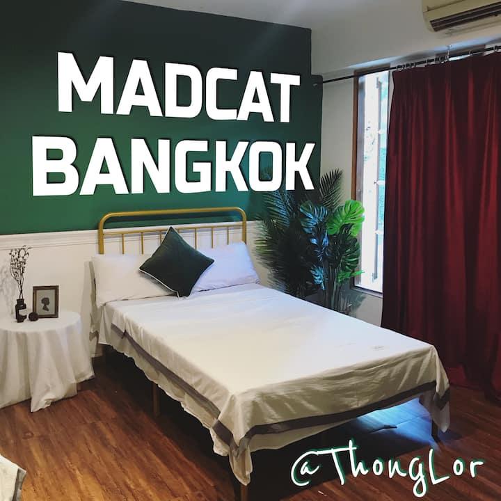 f1d3 曼谷疯猫民宿/MADCAT BANGKOK/精致的双床间/泳池/中文管家