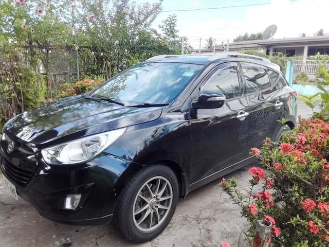 """Our Black Hyundai Tucson call him """"Tucs""""! Ready to serve you, wherever you may go."""