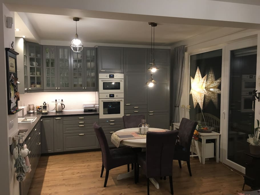 Kitchen with the Christmas star