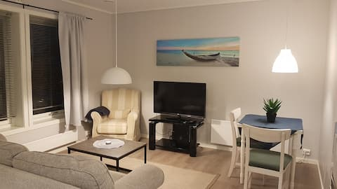 Flott ny leilighet nær fin badestrand og sentrum