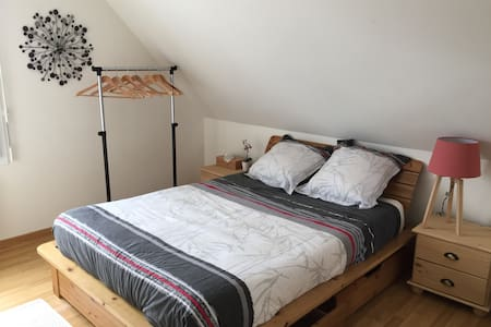 Double bedroom with bathroom (private floor) - Vannes - Talo