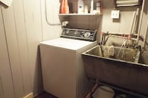 Guests are welcome to use the washer and dryer in the basement.