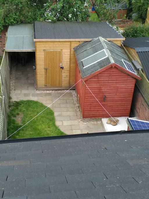 View of my sheds from the roof