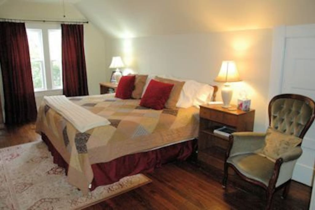 Maple Suite with private bath with walk in shower.