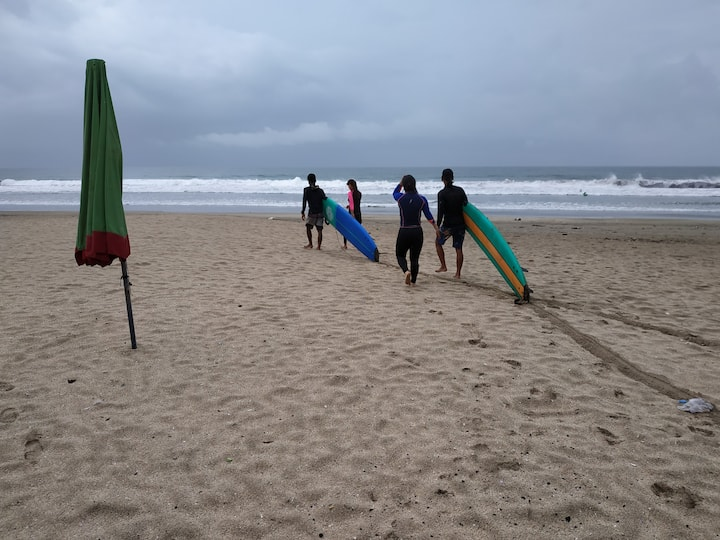 Ready hitting the waves after the basic