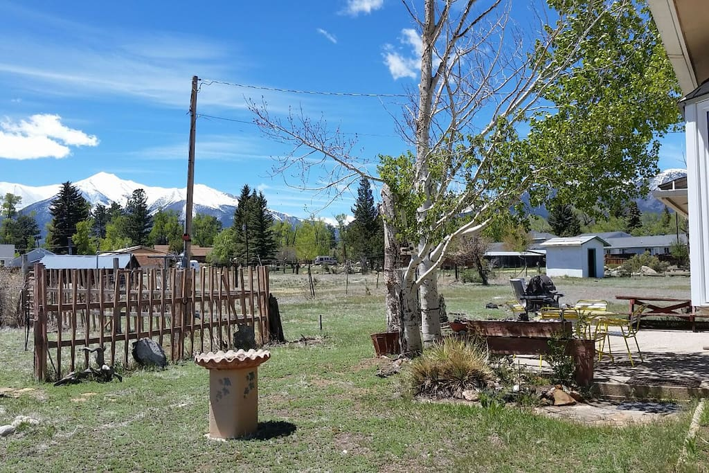 Back yard looking West to Mt . Princeton