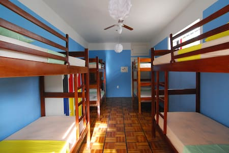 The 8 bed dorm in the 2nd floor