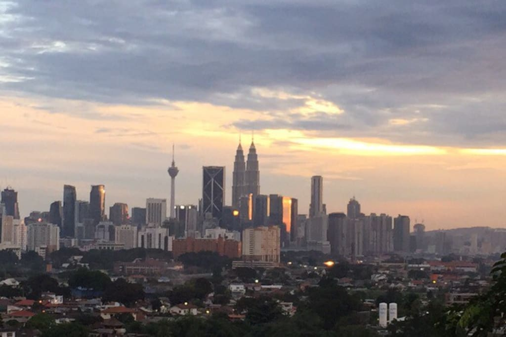 View of Kuala Lumpur from house