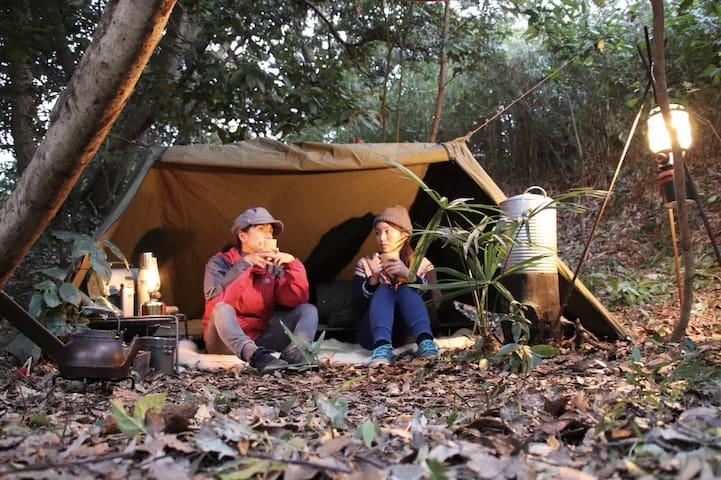 【本格キャンプが楽しめる・ブッシュクラフト】ワイルドに野営ができるヒルトップ
