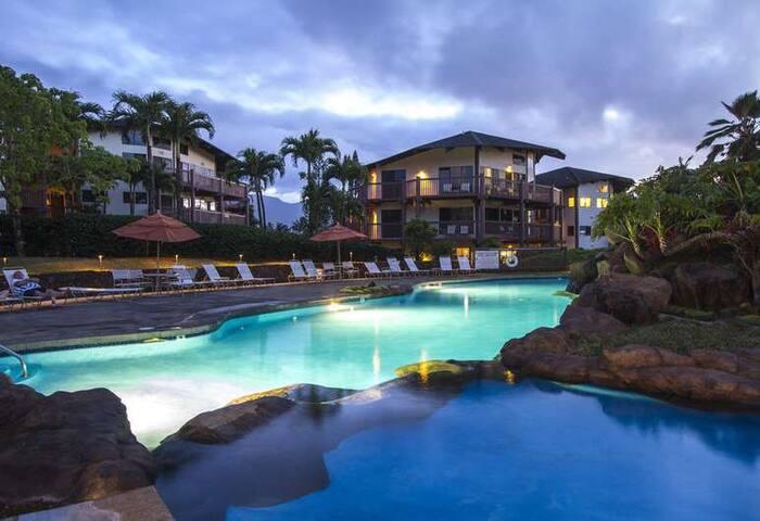 Kauai Princeville Hawaii Condo 1BR 1050 sq ft
