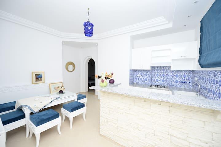 suite citron bleue - Dar Chaabane Al Fehri