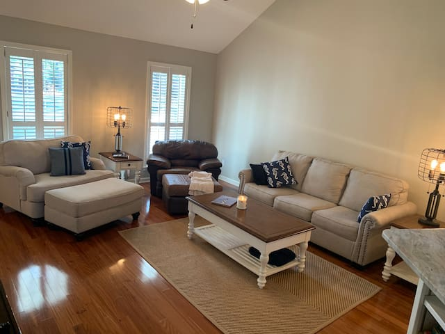 Family Room for hanging out, playing games, watching the big game or your favorite movie