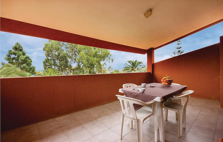 Nice home in Costa Rei -CA- with 1 Bedrooms
