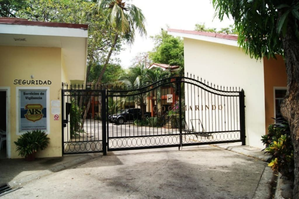 front gate with 24hr guard