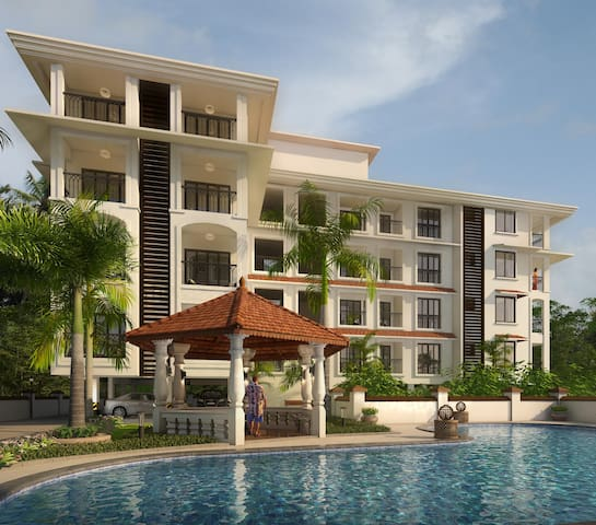 Casa Legend Suites  · Luxurious 2 Double Bed Suite near Candolim Beach