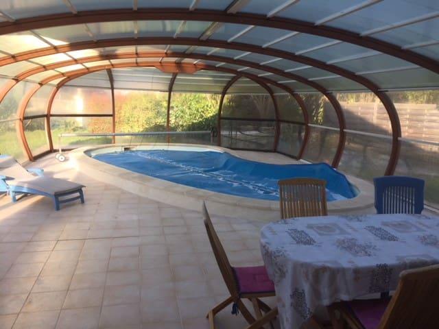 Maison Tourangelle avec piscine