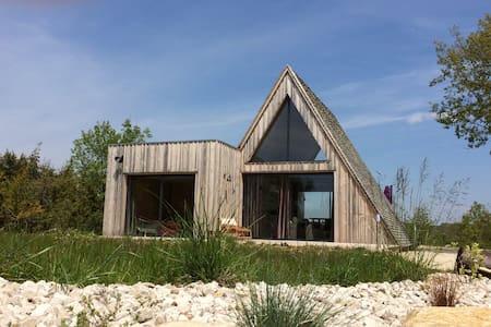 Trigone Wooden Lodge & shared pool, South France - Saint-Martin-Labouval