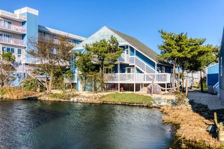 Two bay view, updated condos w/ furnished decks  - two blocks to beach!