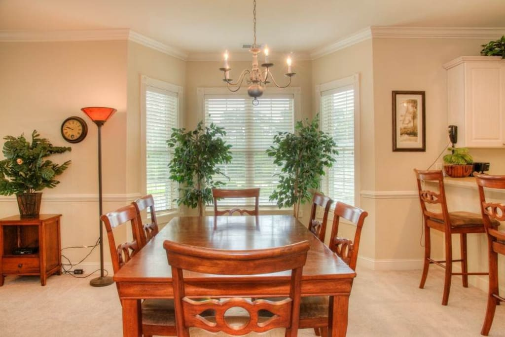 Dining Room.  Plenty of room for family meals.