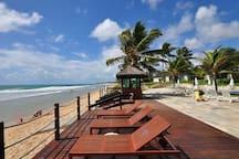 Beira-mar do resort