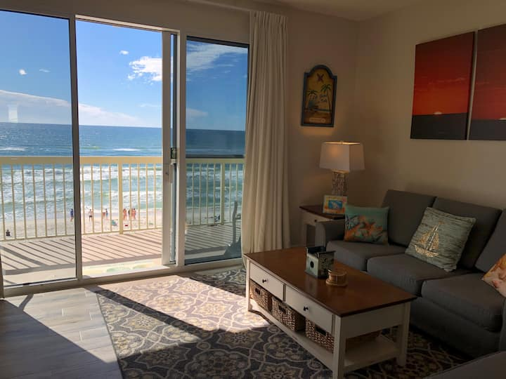 New Lower rate! Fully Renovated Beach-front Condo!