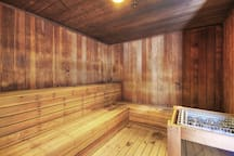 Warm up in the on-site sauna!