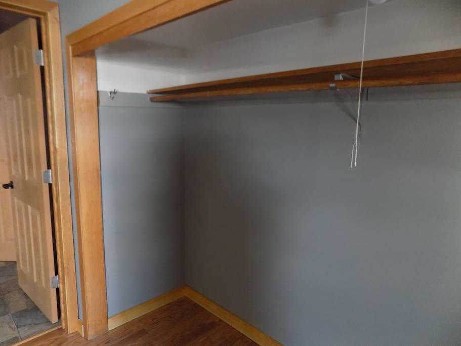 Large open closet.