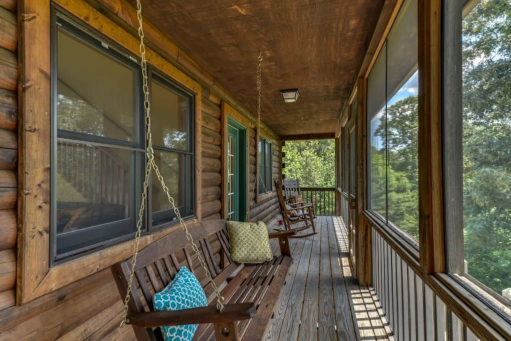 Enjoy the fabulous screened porch with river and ridgeline views.
