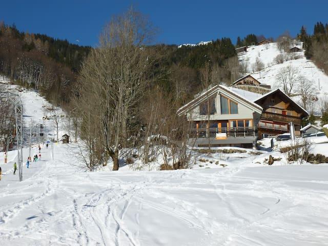 Toplage oberhalb des Skiliftes Klostermatte - Engelberg - Huis