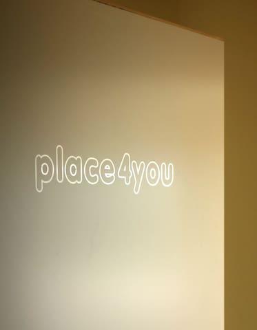 for you: room, coffee/tea bar, fridge, bathroom