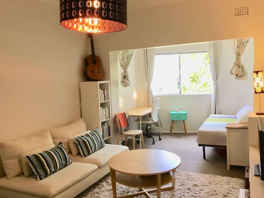 Lounge room and sunroom