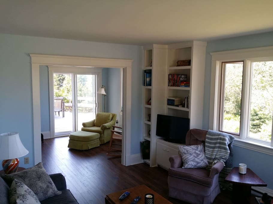 Living room and sun room