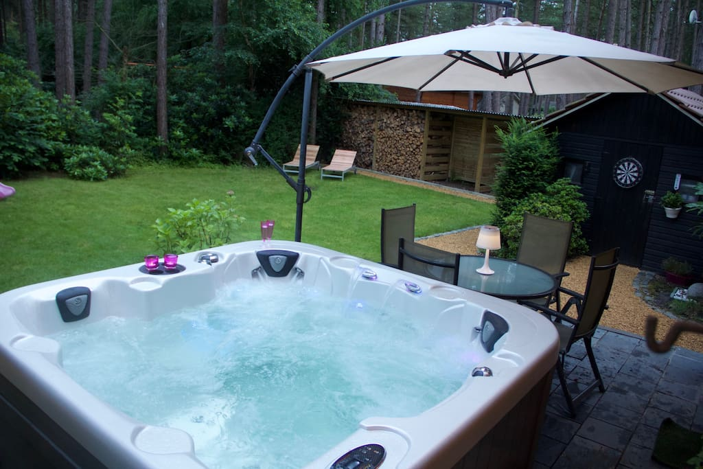 Chill out and enjoy the nature from the rejuvenating hot tub.